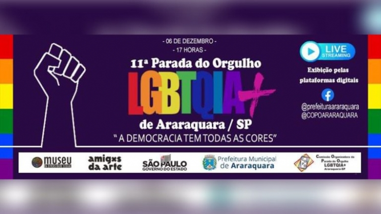 Araraquara: Parada Digital do Orgulho LGBTQIA+ será neste domingo (06)